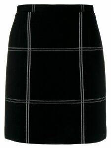 Dolce & Gabbana Pre-Owned 1990's oversized check short skirt - Black