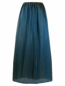 Romeo Gigli Pre-Owned 1996 iridescent pleated skirt - Green