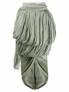 Romeo Gigli Pre-Owned 1990's draped midi skirt - Green