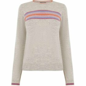 Oasis Demi Textured Stripe Jumper