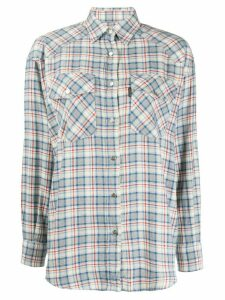 Valentino Pre-Owned 1990s checked straight shirt - White