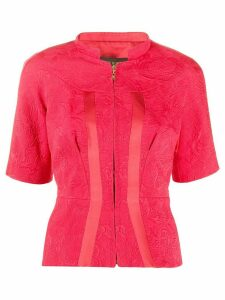 Louis Vuitton pre-owned jacquard zipped blouse - Red
