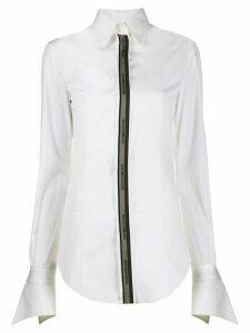 Gianfranco Ferré Pre-Owned 1990s logo appliqué shirt - White