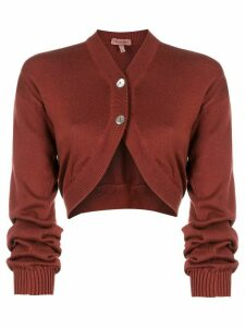Romeo Gigli Pre-Owned 1990s v-neck cropped cardigan - Red