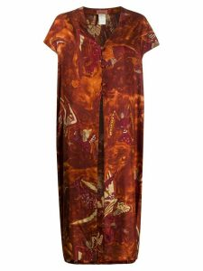 Romeo Gigli Pre-Owned 1990s angel print maxi top - ORANGE