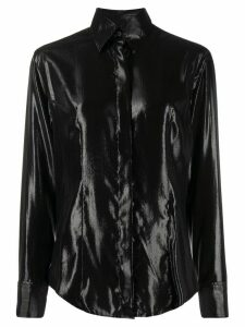 Gianfranco Ferré Pre-Owned 1990s glossy effect shirt - Black