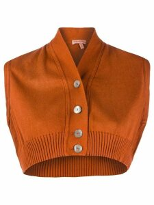 Romeo Gigli Pre-Owned 1990s knitted cropped top - ORANGE