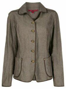Gianfranco Ferré Pre-Owned 1990s slim-fit jacket - Brown