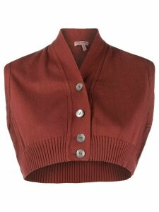Romeo Gigli Pre-Owned 1990s knitted cropped top - Red