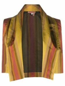 Romeo Gigli Pre-Owned 1990s striped open vest - Yellow