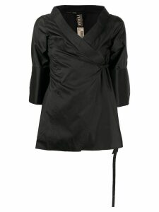 Gianfranco Ferré Pre-Owned wrapped kimono blouse - Black