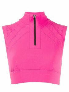 No Ka' Oi zip-up performance top - PINK