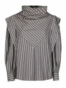 Isabel Marant Grey Cotton-silk Blend Blouse