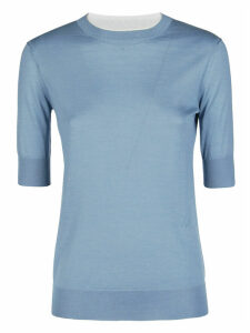 Loro Piana Light Blue Cashmere Knitted Top