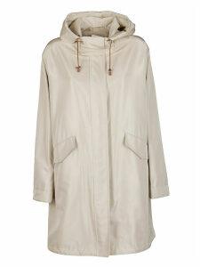 Loro Piana Beige Silk Blend Raincoat