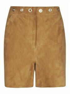 Alberta Ferretti Eyelet Studded Waist Shorts