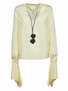 Lanvin Flared Cuffs V-neck Blouse