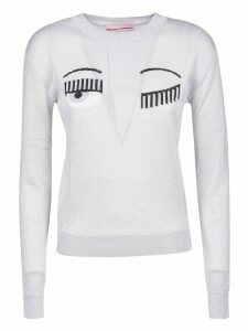 Chiara Ferragni Regular Flirting Lurex Crewneck Sweater