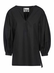 Jil Sander Balloon-sleeved V-neck Blouse