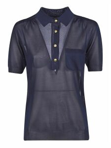 Alberta Ferretti Long Placket Buttoned Polo Shirt