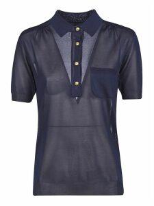Alberta Ferretti Long Placket Buttoned Polo Shirt