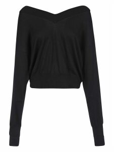 Maison Margiela V-neck Ribbed Sweatshirt
