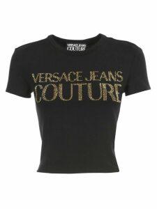 Versace Jeans Couture Short T-shirt S/s W/glitter Written