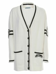 Blumarine Long Cardigan W/logo On Back