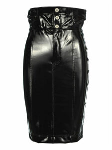 Unravel Latex Unbuttened Thight Skirt