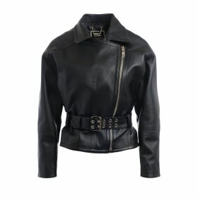 Elisabetta Franchi Jacket In Black Leather