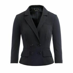Black Short Double-breasted Jacket Elisabetta Franchi