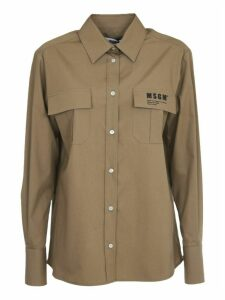 MSGM Beige Shirt With Logo