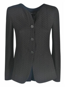 Giorgio Armani Slim-fit Patterned Jacket