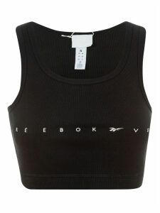 Victoria Beckham Logo Printed Cropped Top