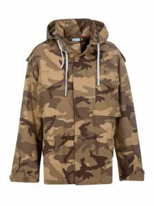 Victoria Beckham Camouflage Hooded Jacket