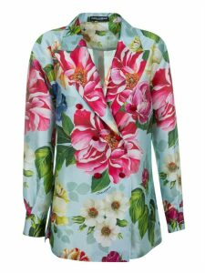 Dolce & Gabbana Double-breasted Floral Shirt