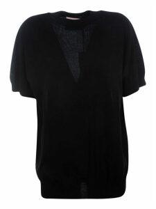 Plan C Short Sleeve Round Neck Sweater