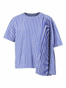 Sacai Striped Cotton T-shirt