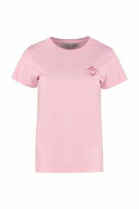 Maison Labiche Embroidered Cotton Boyfriend T-shirt