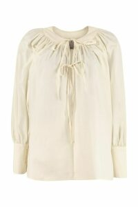 LAutre Chose Blouse With Neckline Ruffles