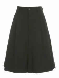 Comme des Garçons Wool Gabardine Short Skirt