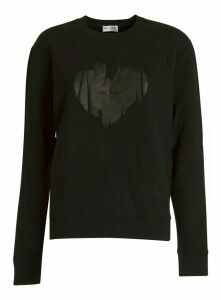 Saint Laurent Heart Logo Sweatshirt
