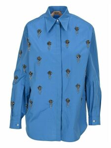 N21 Crystal-embellished Shirt