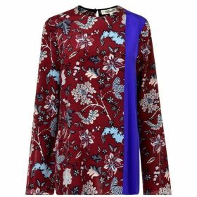 Diane Von Furstenberg Split Sleeve Top