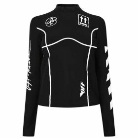 Off White Long Sleeve Technical Top