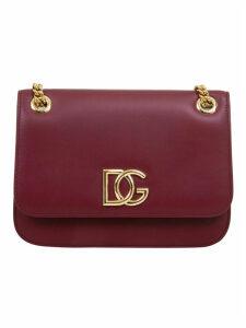 Dolce & Gabbana Logo Plaque Flap Shoulder Bag