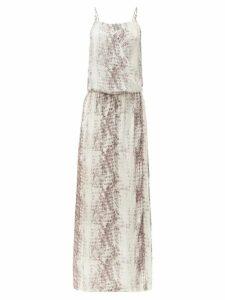 Heidi Klein - Al Snake-print Poplin Maxi Dress - Womens - Snake