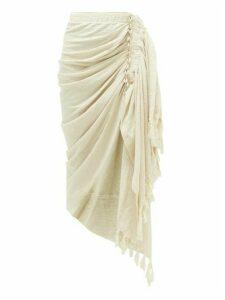 Just Bee Queen - Tulum Organic Linen And Cotton-blend Skirt - Womens - Beige