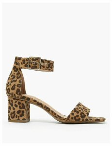 M&S Collection Ankle Strap Block Heel Open Toe Sandals