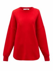 Extreme Cashmere - No. 53 Crew Hop Stretch-cashmere Sweater - Womens - Red